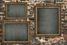 Triptych With Empty Canvas