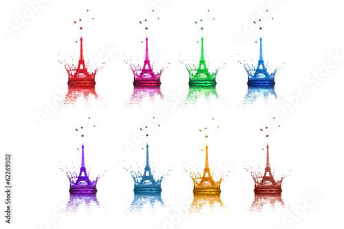 Poster Artistique Eiffel Tower,