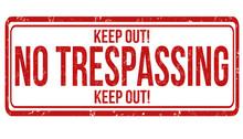 No Trespassing Stamp