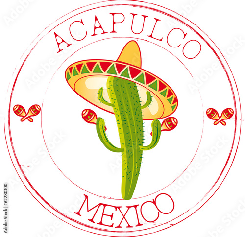 Fotografie, Obraz  Stamp Acapulco