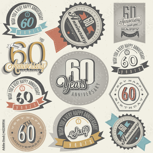Fotografia  Vintage style 60th anniversary collection