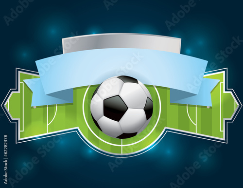 Photo  Soccer - Football Badge and Banner