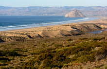View Of The Morro Rock From Montana De Oro State Park