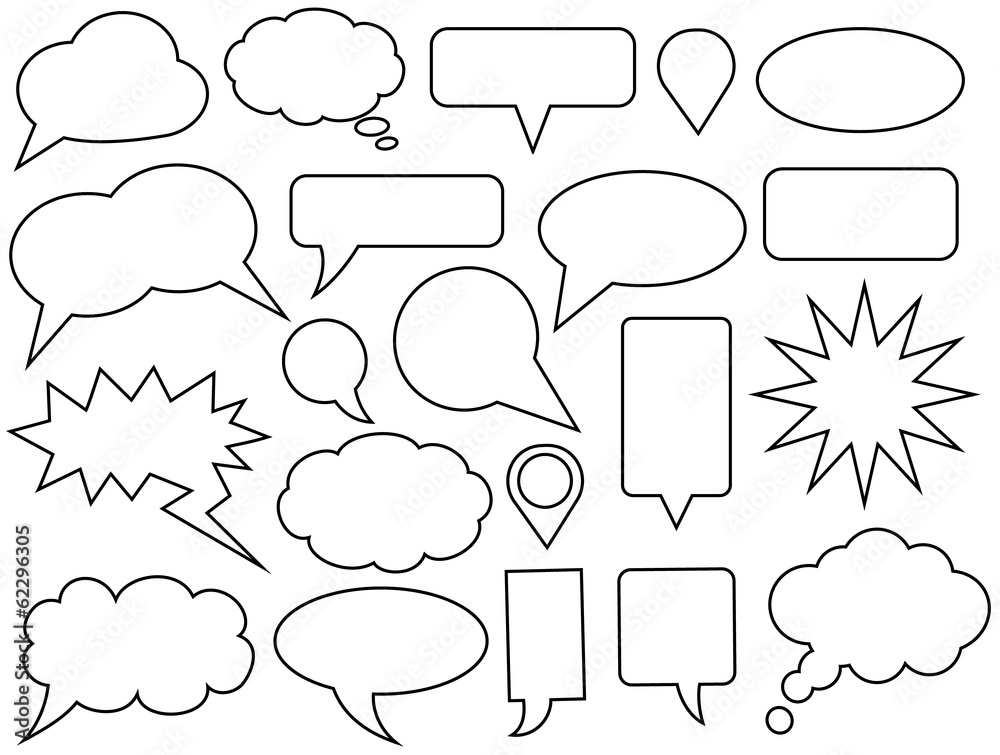Fototapeta Set of vector speech bubbles