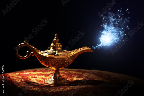 Fotografie, Tablou Magic Aladdins Genie lamp