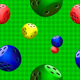 dice,seampless,pattern on green background