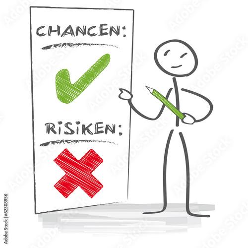 Fotografie, Obraz  Chancen und Risiken