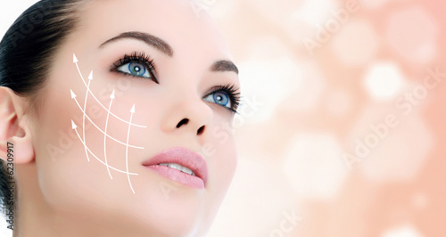 Fotografie, Obraz  Young female with clean fresh skin