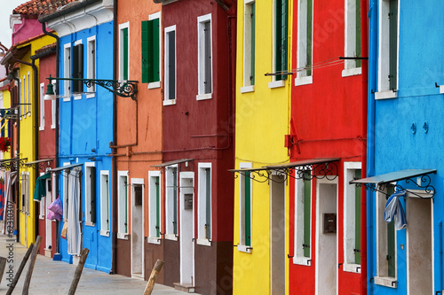 Burano famous for its colourful architecture. Wallpaper Mural