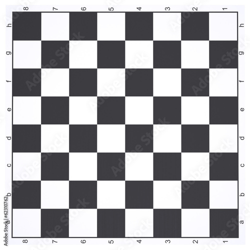 Canvas Print Empty chessboard