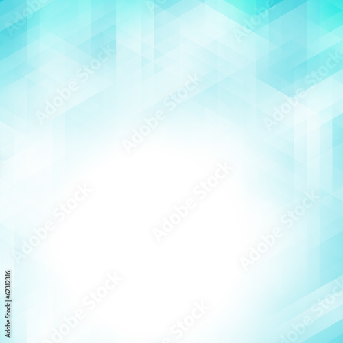 Fotobehang - Abstract blue geometric pixel background
