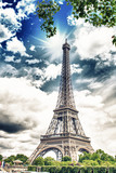 Fototapeta Eiffel Tower - Beautiful view of the Eiffel Tower