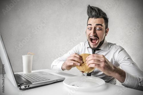 Cuadros en Lienzo hungry businessmen