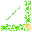 Clovers background on St. Patrick's Day