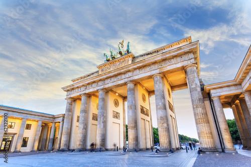 Brandenburg gate, Berlin, Germany © Noppasinw