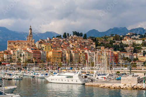 Photographie  View of Menton city - French Riviera, France