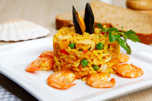 Risotto With Shellfish, Paella