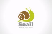 Snail Cartoon Fun Style Vector...
