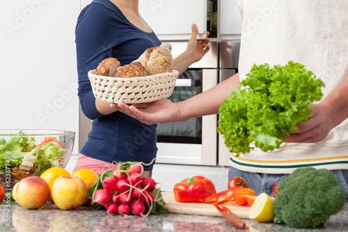 Obraz na plátně  Vegetarian lunch
