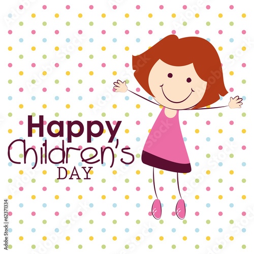 Staande foto Hoogte schaal Children's Day