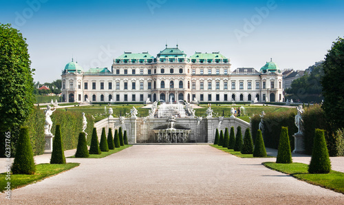 Photo Famous Schloss Belvedere in Vienna, Austria