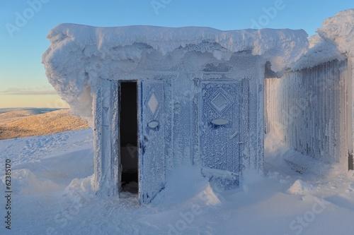 Photographie  gefrorenes Häuschen