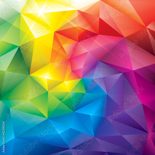 Abstract polygonal gems colors background. Poster