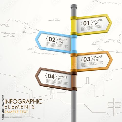 Fotografía  abstract signpost infographics