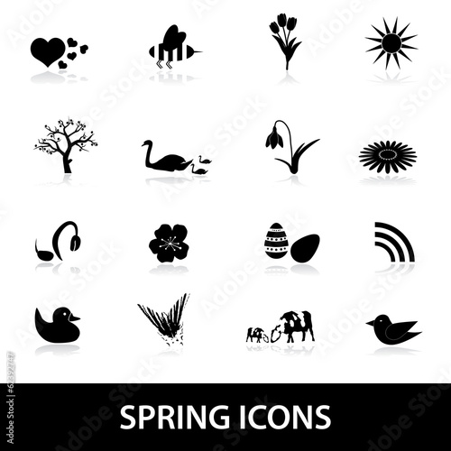 Photo  spring icons eps10