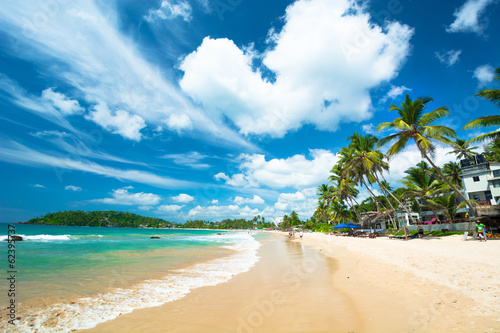 Photo Stands Tropical beach beach landscape in Sri Lanka