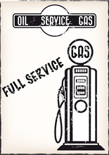 Service Station Poster Vector