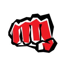 Fist Stylized Symbol, Revolution Concept