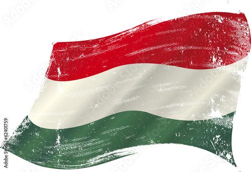 Foto hungarian grunge flag