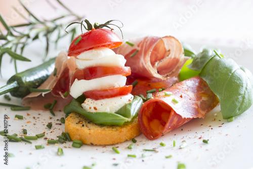 Tomate Mozarella Chorizo