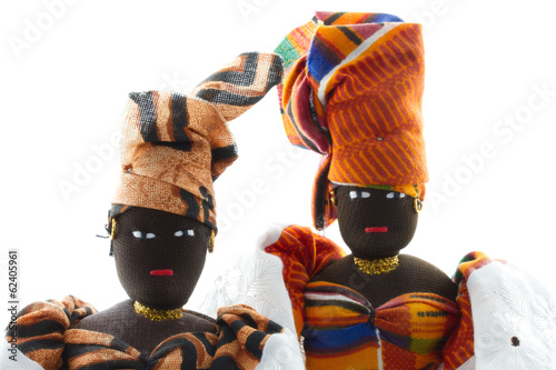 Printed kitchen splashbacks Indians two Senegal dolls with headdresses