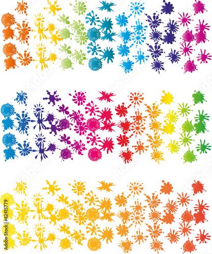 Farbkleckse, Tropfen, Fleck, Vektor Wallpaper Mural