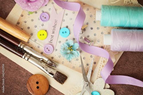 Fotografija scrapbooking craft materials