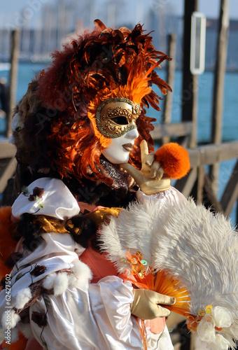 Stickers pour portes Venise Carnaval de Venise, Italie