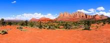Panoramic View Of The Red Rocks Of Sedona, Arizona, USA