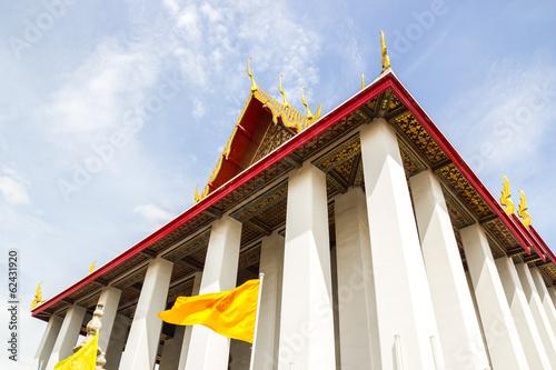 Deurstickers Bedehuis Temple of the Reclining Buddha