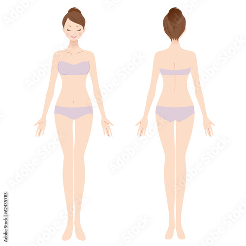 Fotografie, Obraz  女性 美容 裸 ヌード 全身