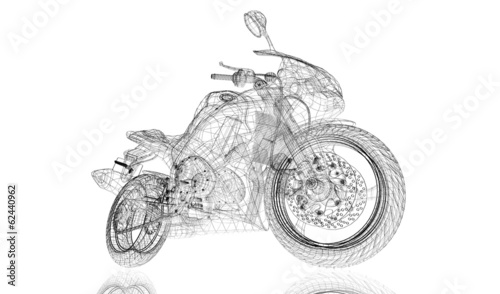 rower-motocykl-model-3d