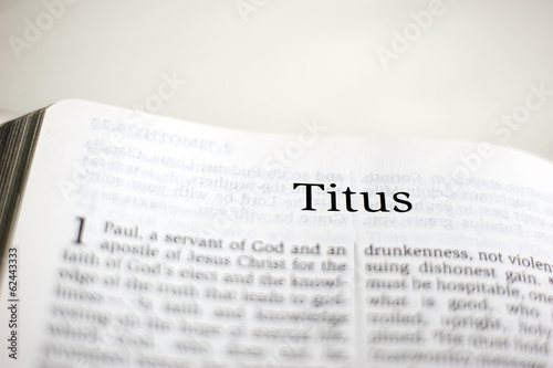 Canvas Print Book of Titus