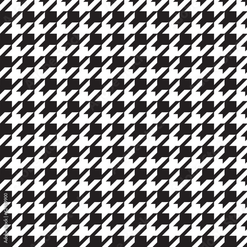 Photo  houndstooth seamless pattern