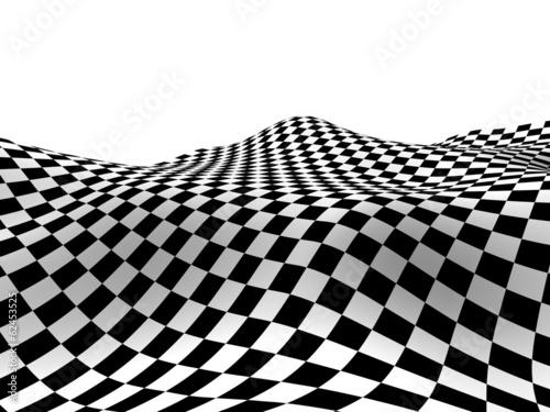 Obraz na płótnie Checkered texture 3d background