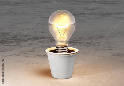 Light Bulb In A Vase Buy This Stock Illustration And Explore