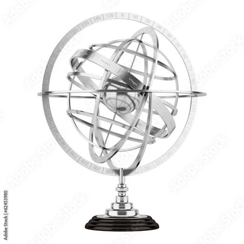 Photo spherical astrolabe isolated on white background