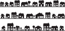 Neighborhood With Homes Illust...