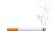 Smoking Cigarette Isolated On ...