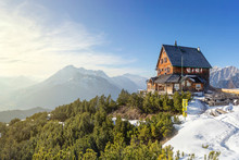 Mountain Cabin In The Alps